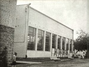 Elewacja sali gimnastycznej-IV 1977r.