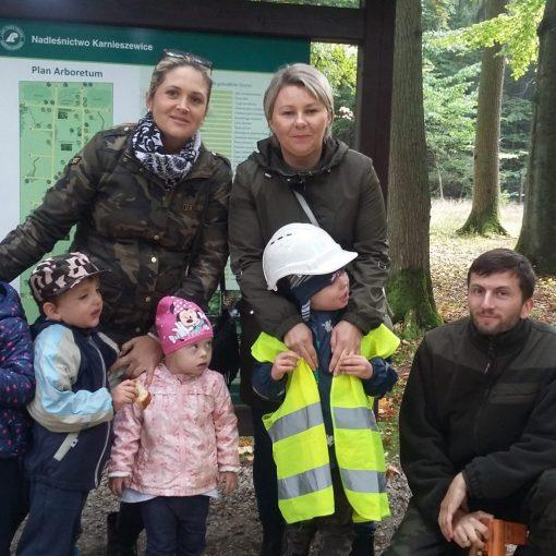 Przedszkolaki z SOSW w Arboretum