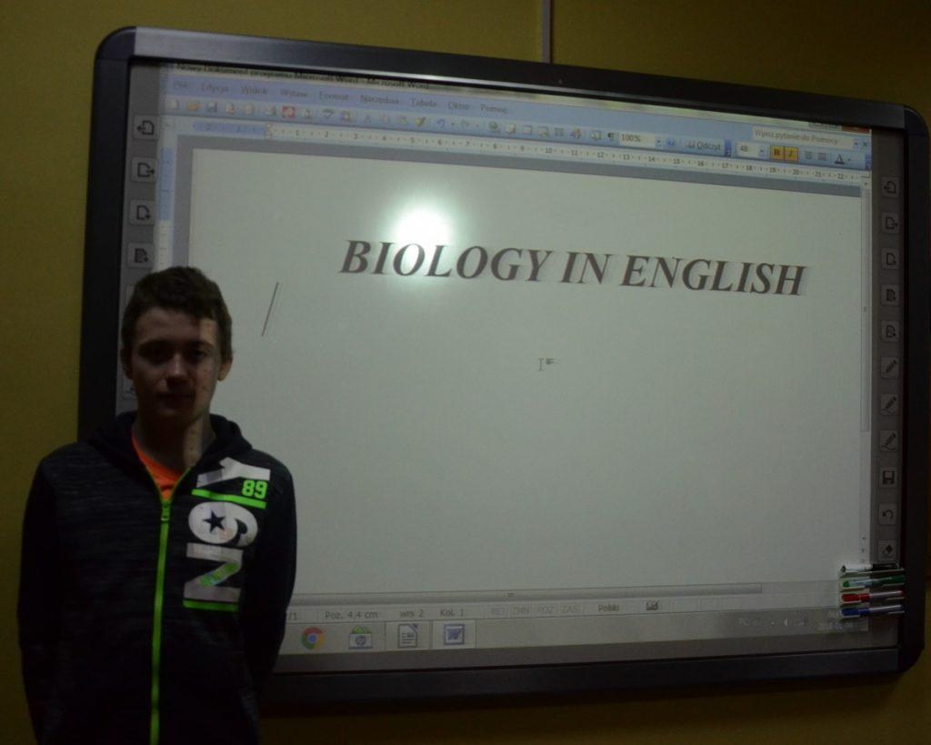 Lekcja biologii i geografii z elementami języka angielskiego