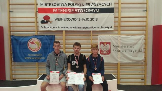 Mistrzostwa Polski Niesłyszących w Tenisie Stołowym Wejherowo 12-14.10.2018r