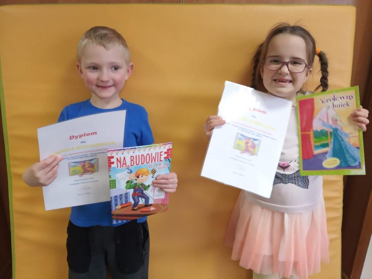 Wyróżnienie przedszkolaków w Ogólnopolskim Konkursie Plastycznym