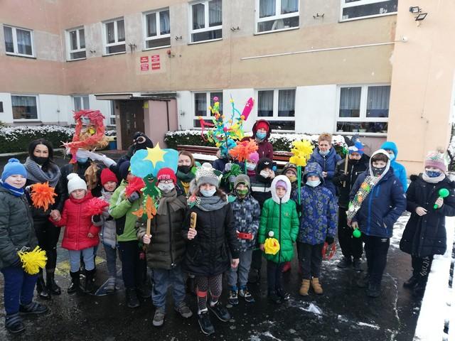 Pożegnanie zimy, powitanie wiosny w przedszkolu i w klasach 1-3SP – 19.03.2021r.