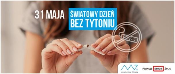 31 maja Światowy Dzień Bez Tytoniu